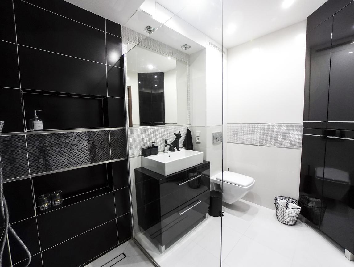 łazienka Black White Ap Kwadrat